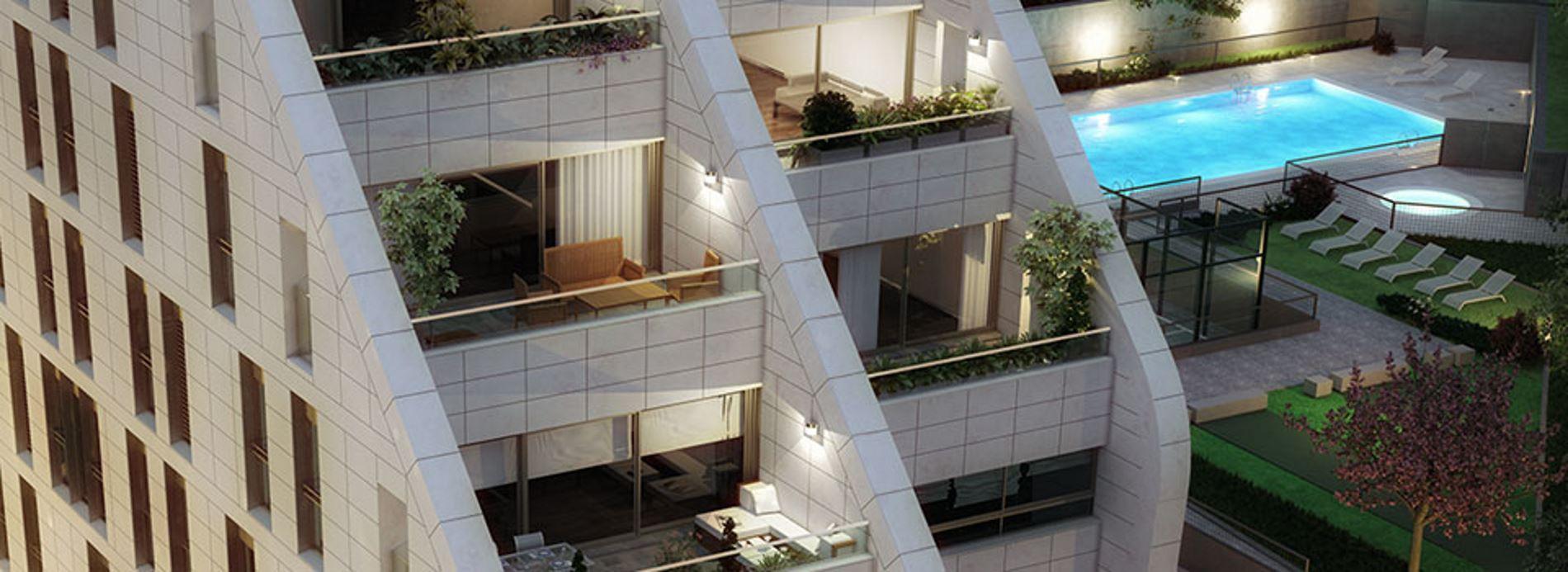 Residencial puerta de hierro viviendas de obra nueva for Piso obra nueva madrid